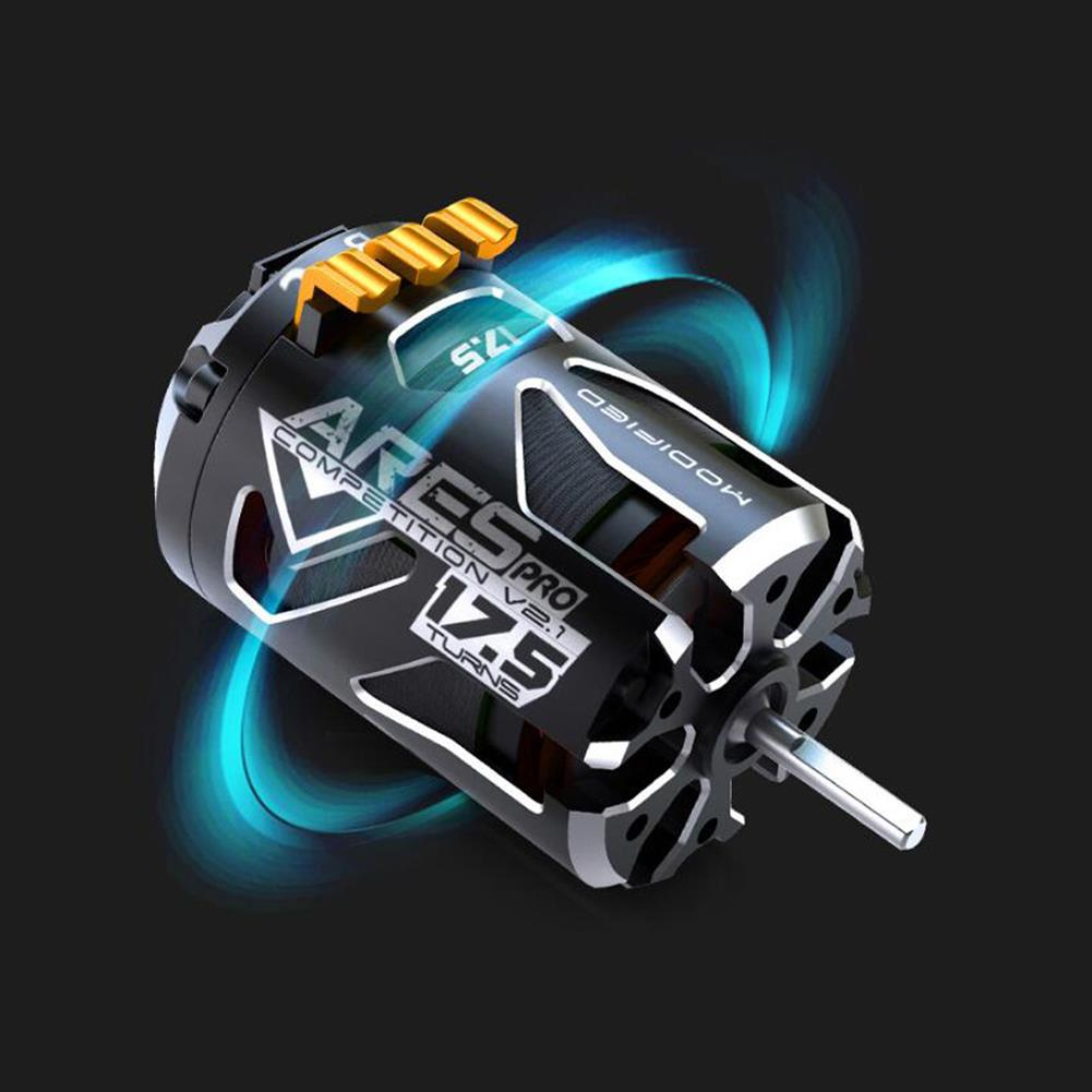 rc-car-parts SKYRC 540 ARES PRO V2 Competition 2200KV 13.5T 17.5T 21.5T Race Sensored Brushless Motor Alloy Shield for 1/10 RC Car Parts HOB1590912 2