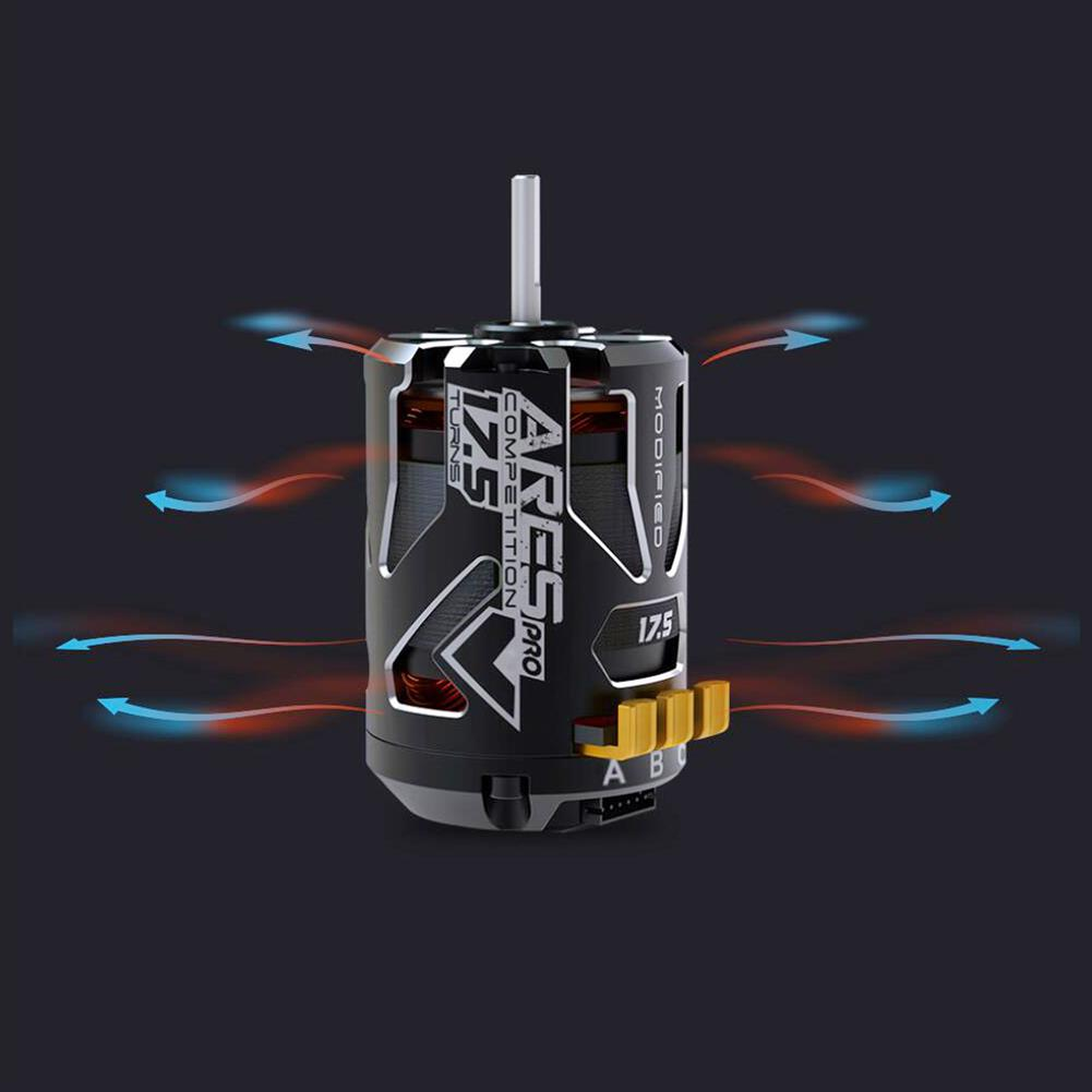 rc-car-parts SKYRC 540 ARES PRO V2 Competition 2200KV 13.5T 17.5T 21.5T Race Sensored Brushless Motor Alloy Shield for 1/10 RC Car Parts HOB1590912 3