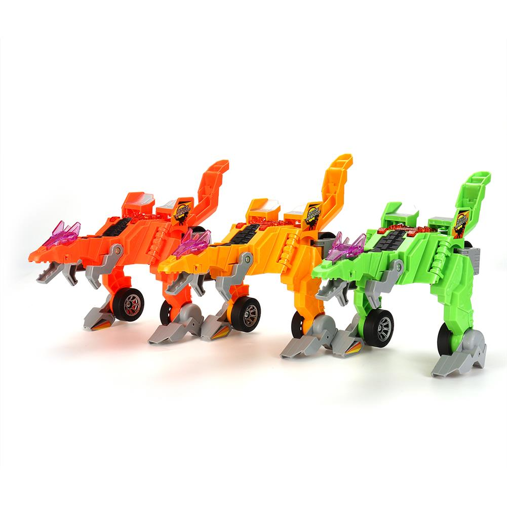 diecasts-model-toys Electric Transforming T-Rex Dinosaur LED Car with Light Sound Diecast Model Toy HOB1591202