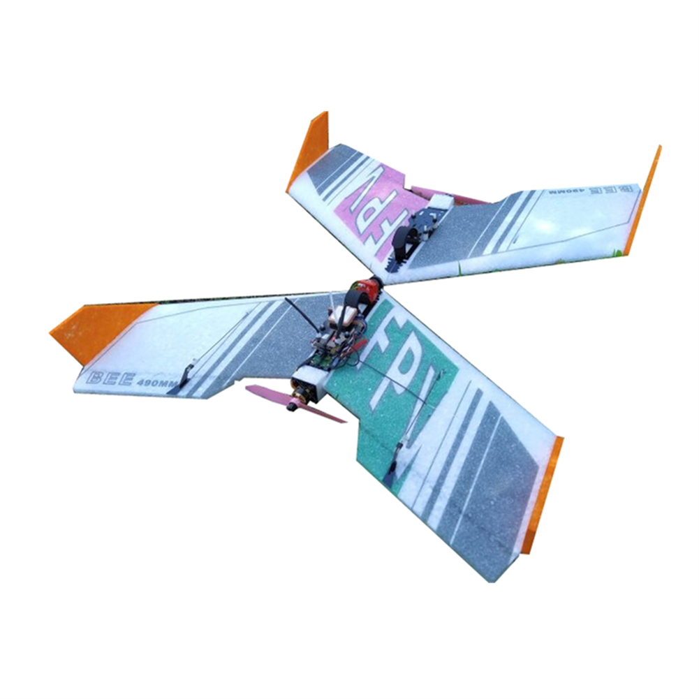 rc-airplane 2pcs BEE 490mm Wingspan EPP FPV RC Airplane Fixed Wing KIT for New Flyer Beginner Trainer HOB1592237