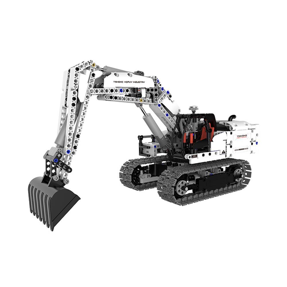 blocks-track-toys XIAOMI DIY Assembled Engineering Hydraulic Excavator Hook Machine Blocks Model Toys HOB1595033