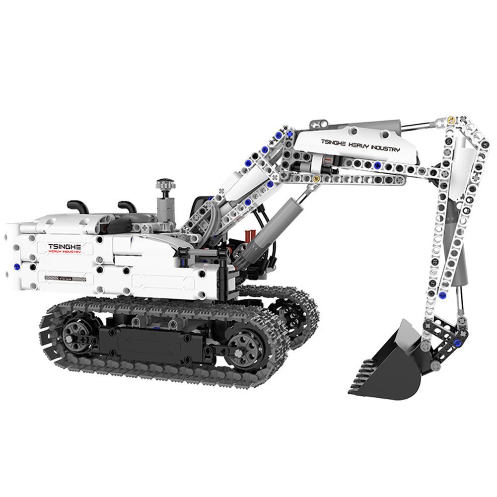 blocks-track-toys XIAOMI DIY Assembled Engineering Hydraulic Excavator Hook Machine Blocks Model Toys HOB1595033 1