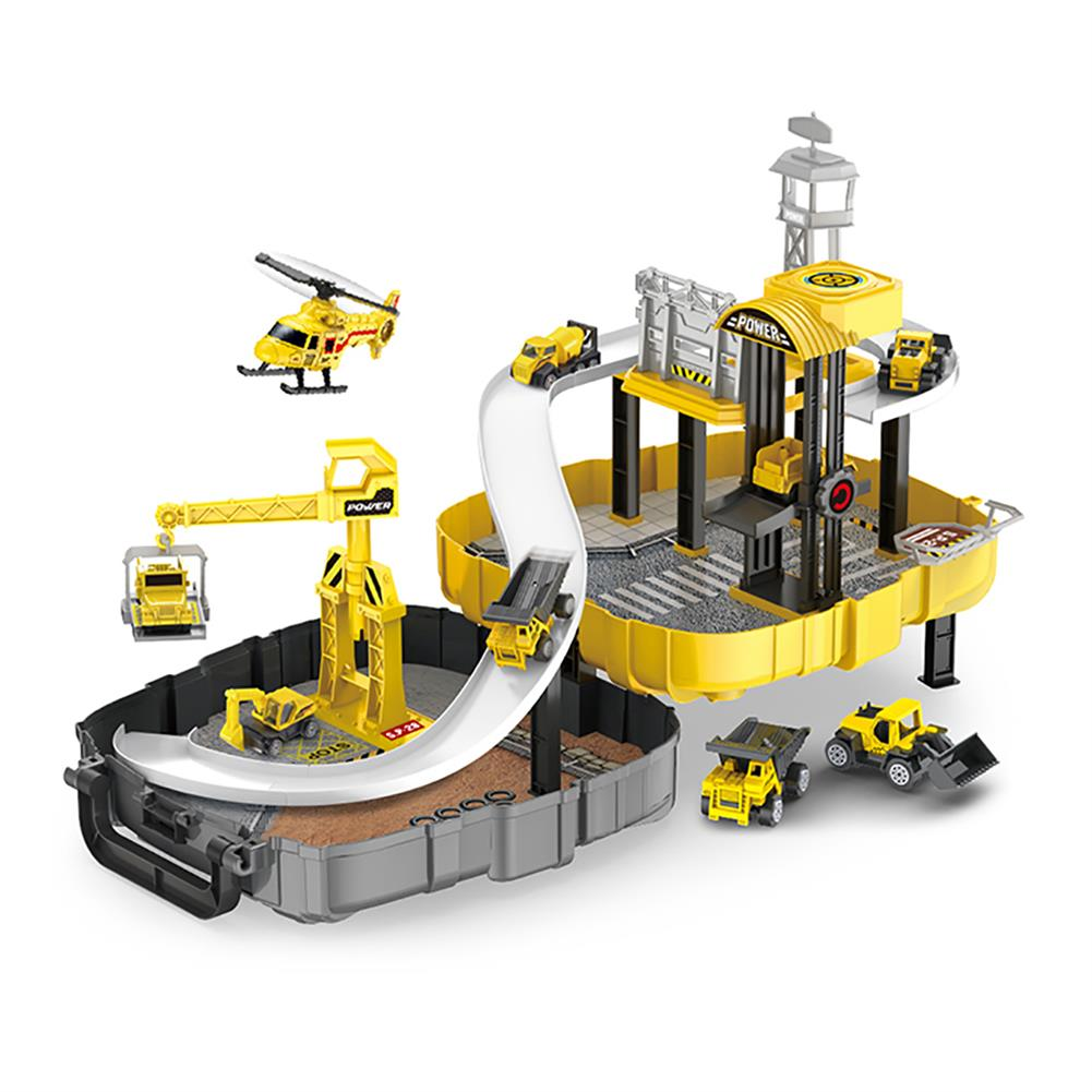 puzzle-game-toys Construction Toys Sets Children's Construction Engineering Set Collection Model Vehicles Metal Tractor Toys including Tire Shape Track Station Boy Toy Gift HOB1599958 1