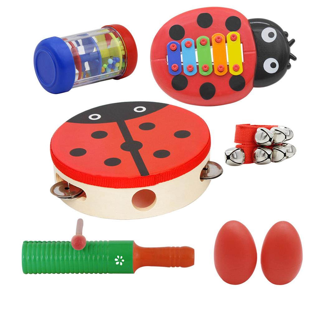 orff-instruments Orff Musical instruments Sets Hand Drum Egg Maracas Wrist Bell Single Ring Percussion Piano A Section of Rain Educational Musical Gifts HOB1601435