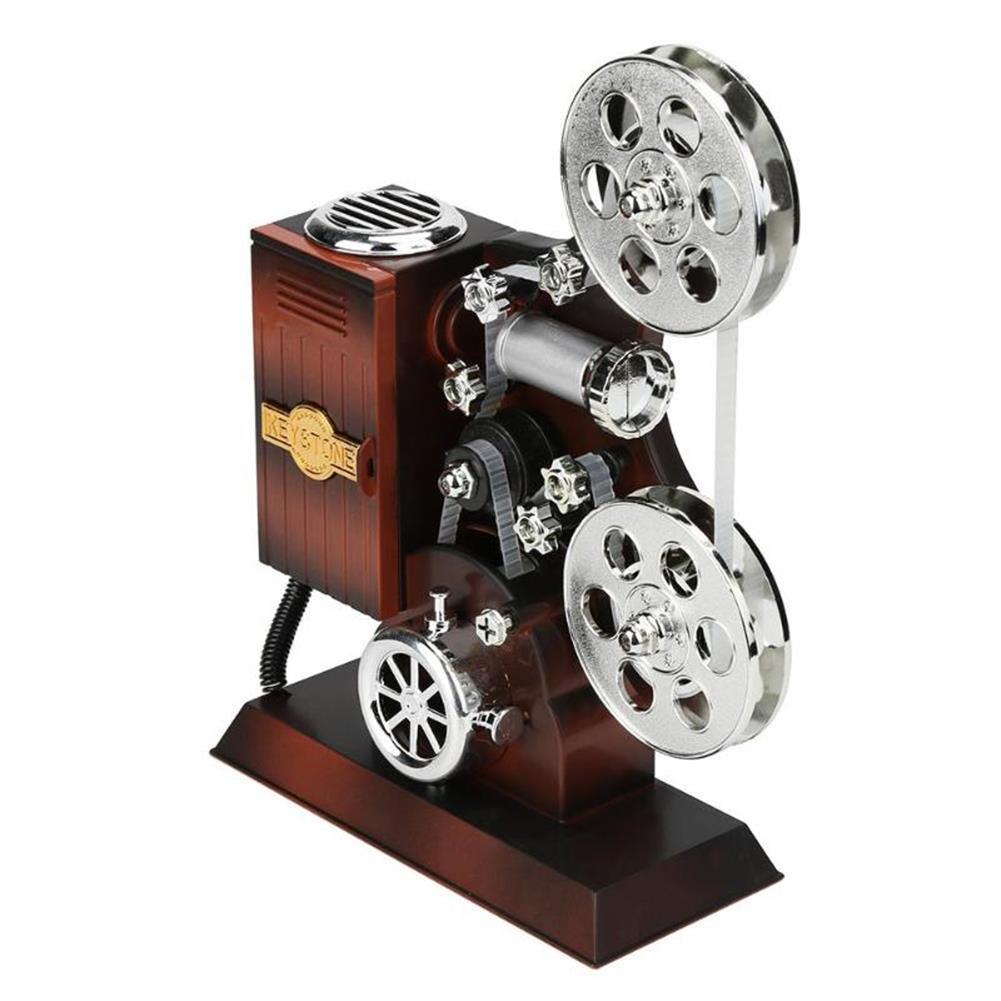 music-box Retro Movie Film Projector Music Box Wood Metal Antique Musical Box Christmas Gift for Kids HOB1601501