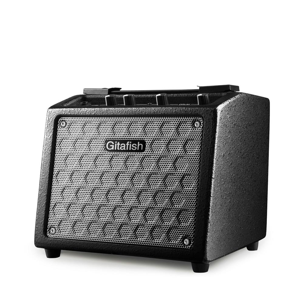 speakers-subwoofers Gitafish 10W Portable Guitar Amplifier Guitar Speaker Built-in Rechargeable Battery with Drum Machine Support Microphone/AUX input HOB1601503