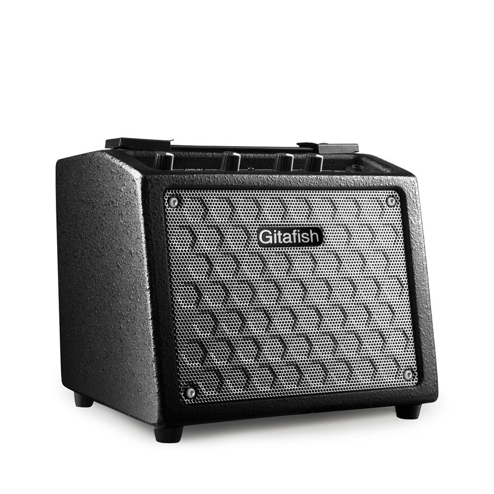 speakers-subwoofers Gitafish 10W Portable Guitar Amplifier Guitar Speaker Built-in Rechargeable Battery with Drum Machine Support Microphone/AUX input HOB1601503 1