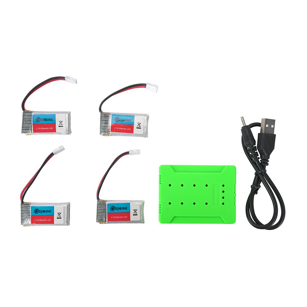 battery-charger 4Pcs 3.7V 350mAh 25C 1S Lipo Battery White Plug with JJRC X8 Charger for UDIRC U12S RC Helicopter HOB1602940