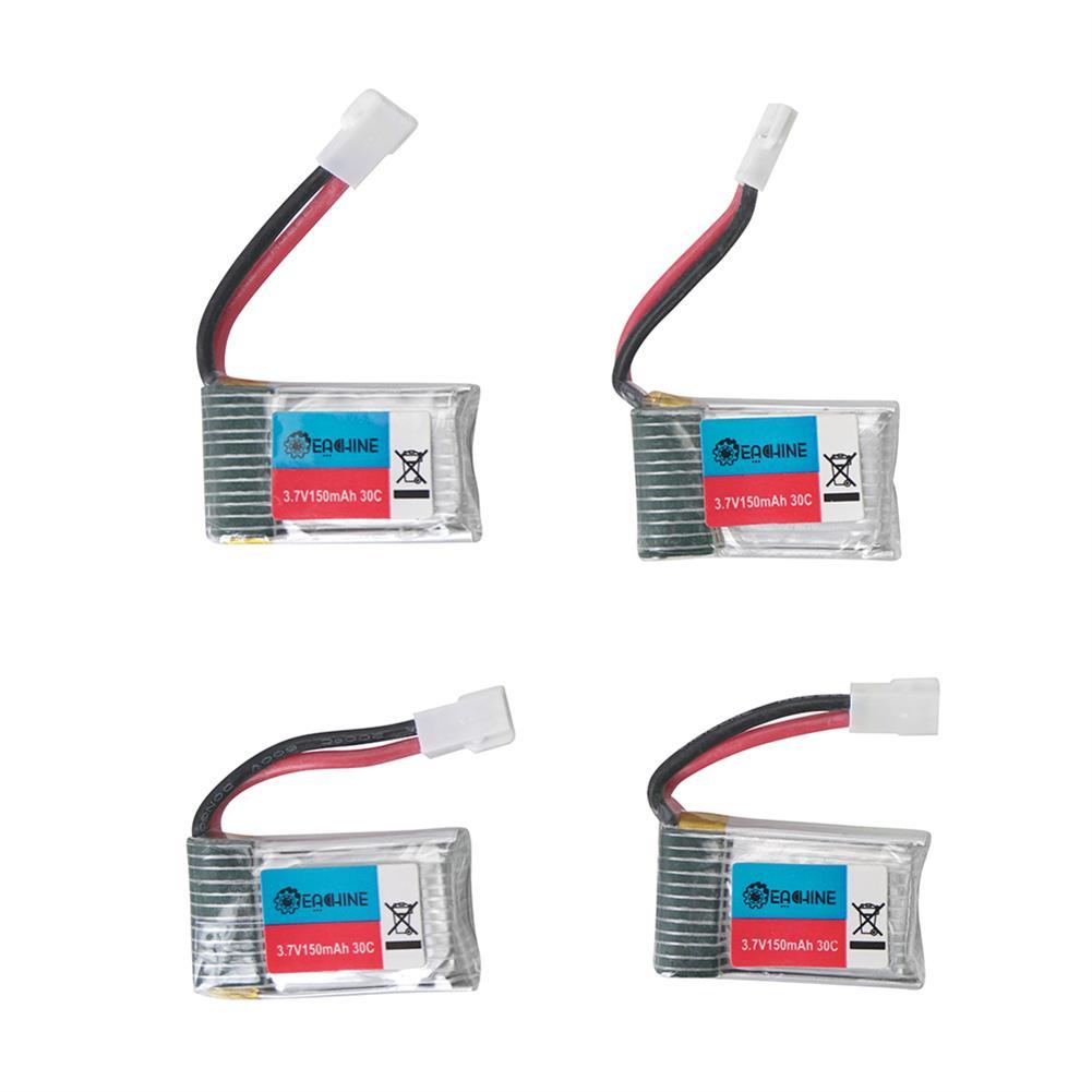 battery-charger 4Pcs 3.7V 150mAh 30C 1S Lipo Battery White Plug with JJRC X8 Charger HOB1602941 1