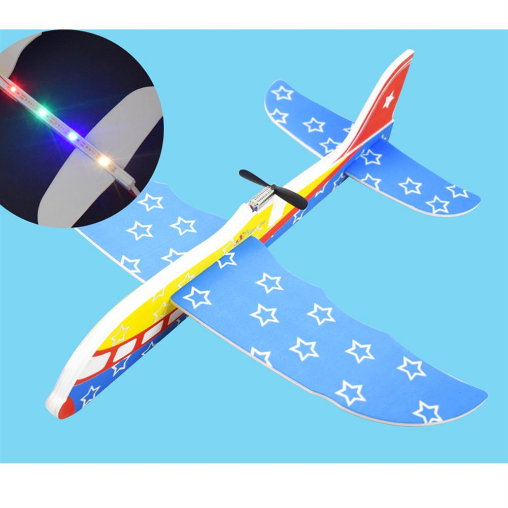 plane-parachute-toys Electric EPP Hand Throwing Foam Aircraft Rotary Airplane Model Plane Toy with LED Light HOB1602984