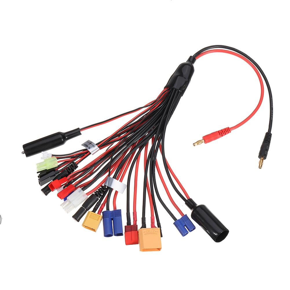 connector-cable-wire 20 in 1 Multifunction Charger Cable 4mm Banana Pklug to XT60 XT90 EC3 EC5 Tamiya for B6 B6AC PL6 PL8 Charger HOB1603785