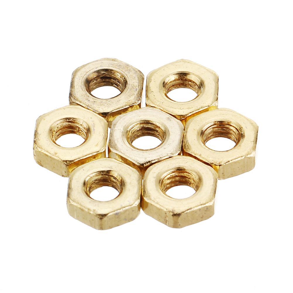 tools-bags-storage 50Pcs M2 M2.5 M3 M4 M5 Gold Plated Carbon Steel Screw Nut HOB1604181 2