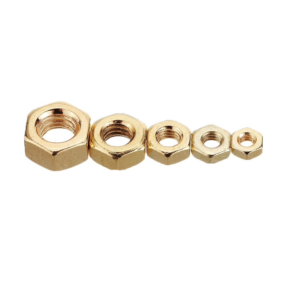tools-bags-storage 50Pcs M2 M2.5 M3 M4 M5 Gold Plated Carbon Steel Screw Nut HOB1604181 3