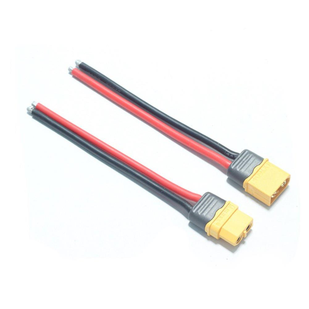connector-cable-wire 1 Pair AMASS XT60+ Male & Female Plug Connector 14AWG 10cm Power Cable Wire HOB1604199