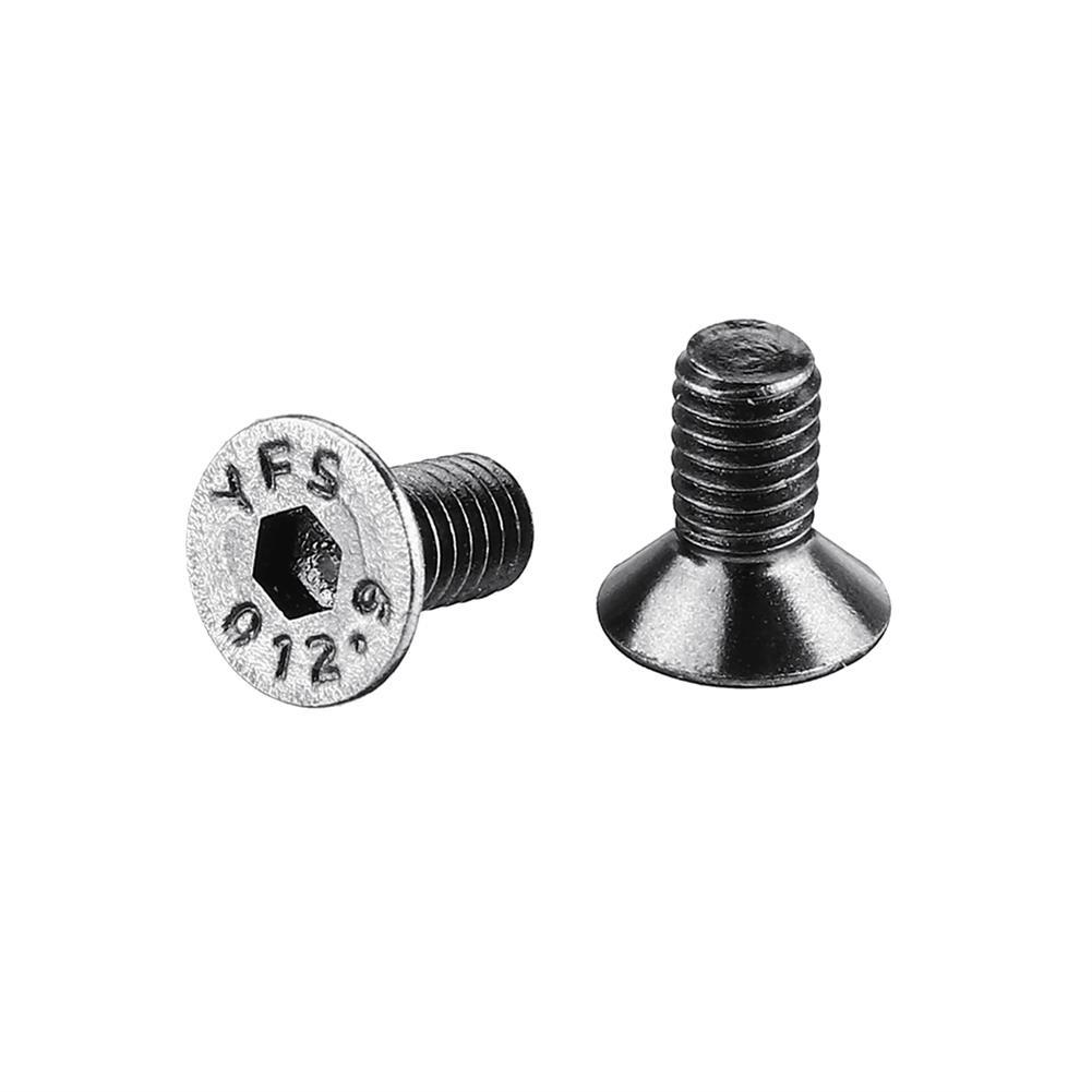 tools-bags-storage 20Pcs M3 M3*6/8/10 12.9 Grade Black Flat Head Round Cup Hex Socket Screw HOB1604325 2