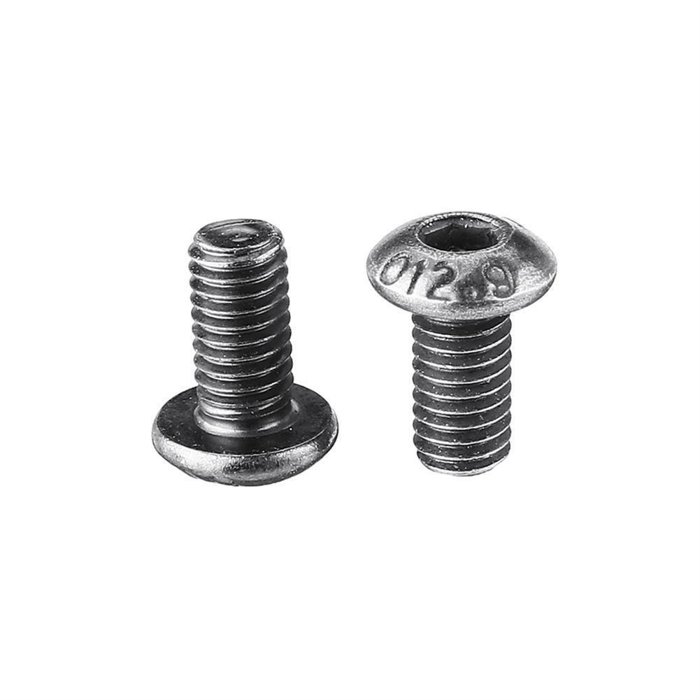 tools-bags-storage 20Pcs M3 M3*6/8/10 12.9 Grade Black Flat Head Round Cup Hex Socket Screw HOB1604325 3