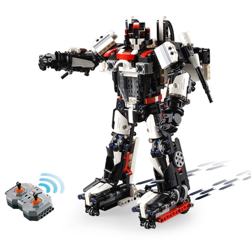robot-toys CaDA F15-EAGLEBOT DIY 2 in 1 2.4G Smart RC Robot Warcraft Block Building Assembled Robot Toy HOB1604399 1