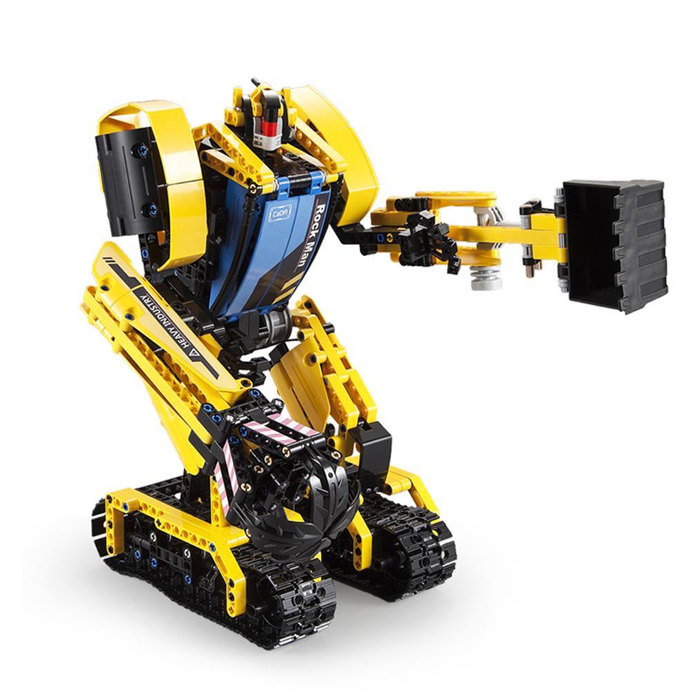 robot-toys CaDA Rock Man DIY 2 in 1 2.4G Smart RC Robot Block Building Excavator Digger Assembled Robot Toy HOB1604401 1
