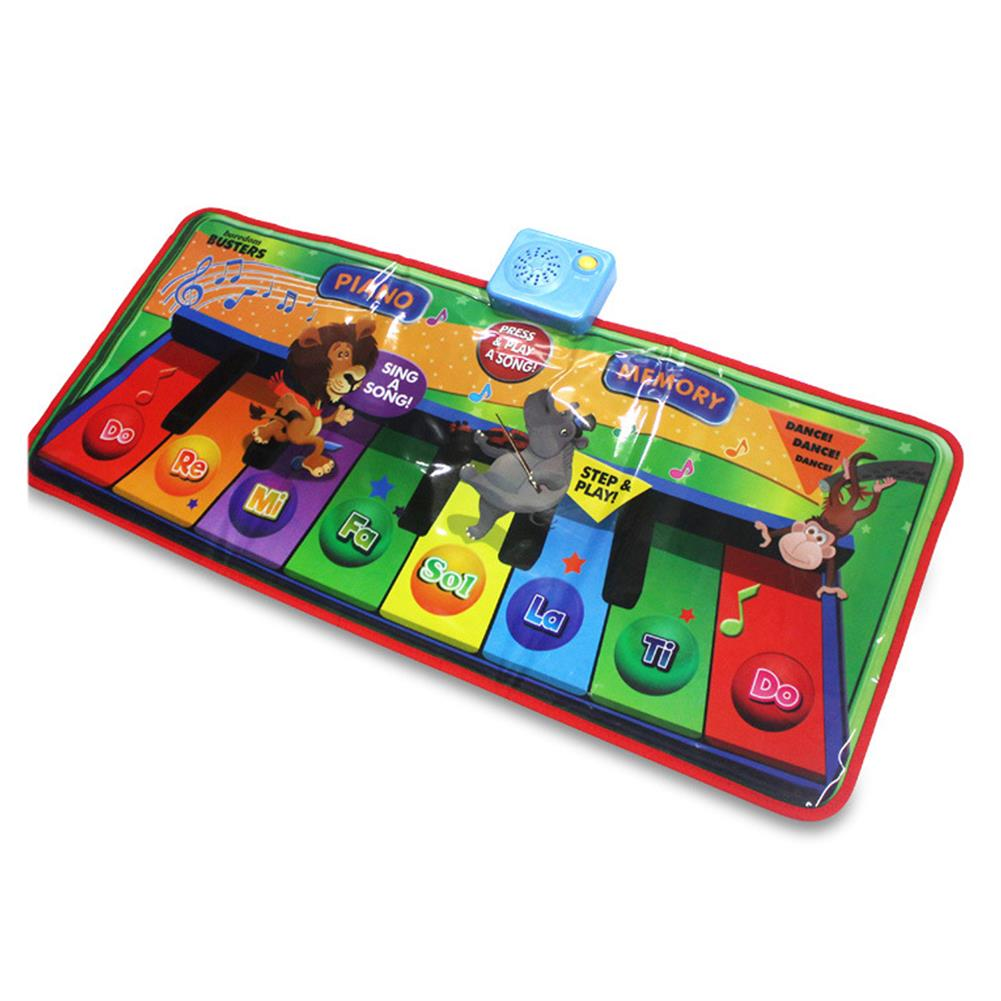 roll-up-piano Foldable Piano Pad Early Education Carpet Singing Piano Music Carpet Mat for Children HOB1604994