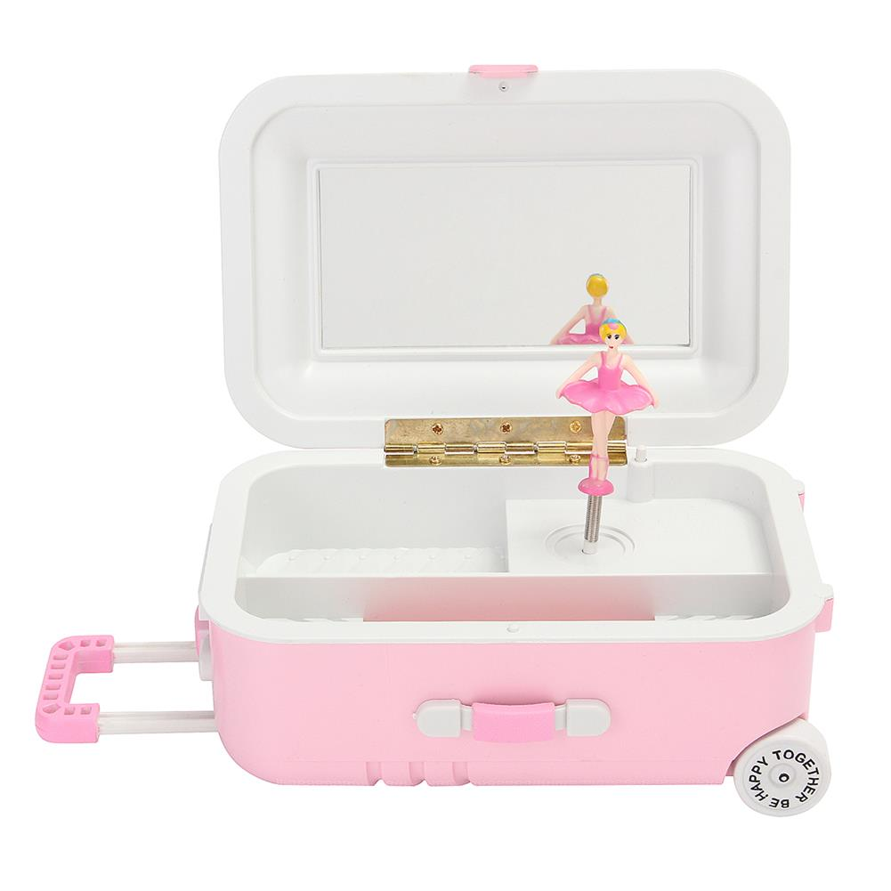 music-box Luggage Case Trunk Ballerina Dancing Dolls Music Box Home Decor Personalized Ornaments Decoration Gifts for Children Girl HOB1605018 2