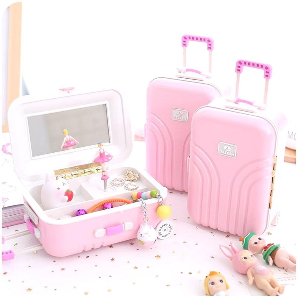 music-box Luggage Case Trunk Ballerina Dancing Dolls Music Box Home Decor Personalized Ornaments Decoration Gifts for Children Girl HOB1605018 3