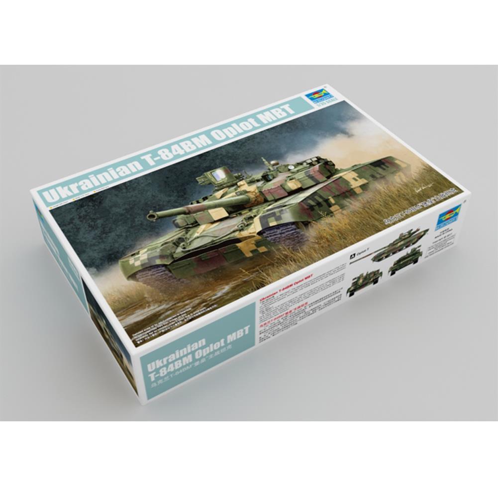 model-building Trumpeter 1:35 Ukraine T-84BM DIY Assembled Oplot Main Battle Tank Static Model Building Set HOB1607361 1