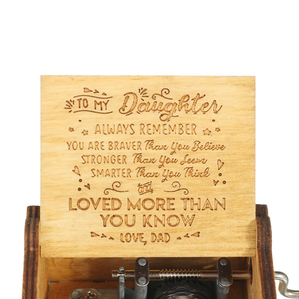 music-box Hand Crank Wooden Engraved theme Music Box Musical Accessories for Music Enthusiast HOB1608301 1