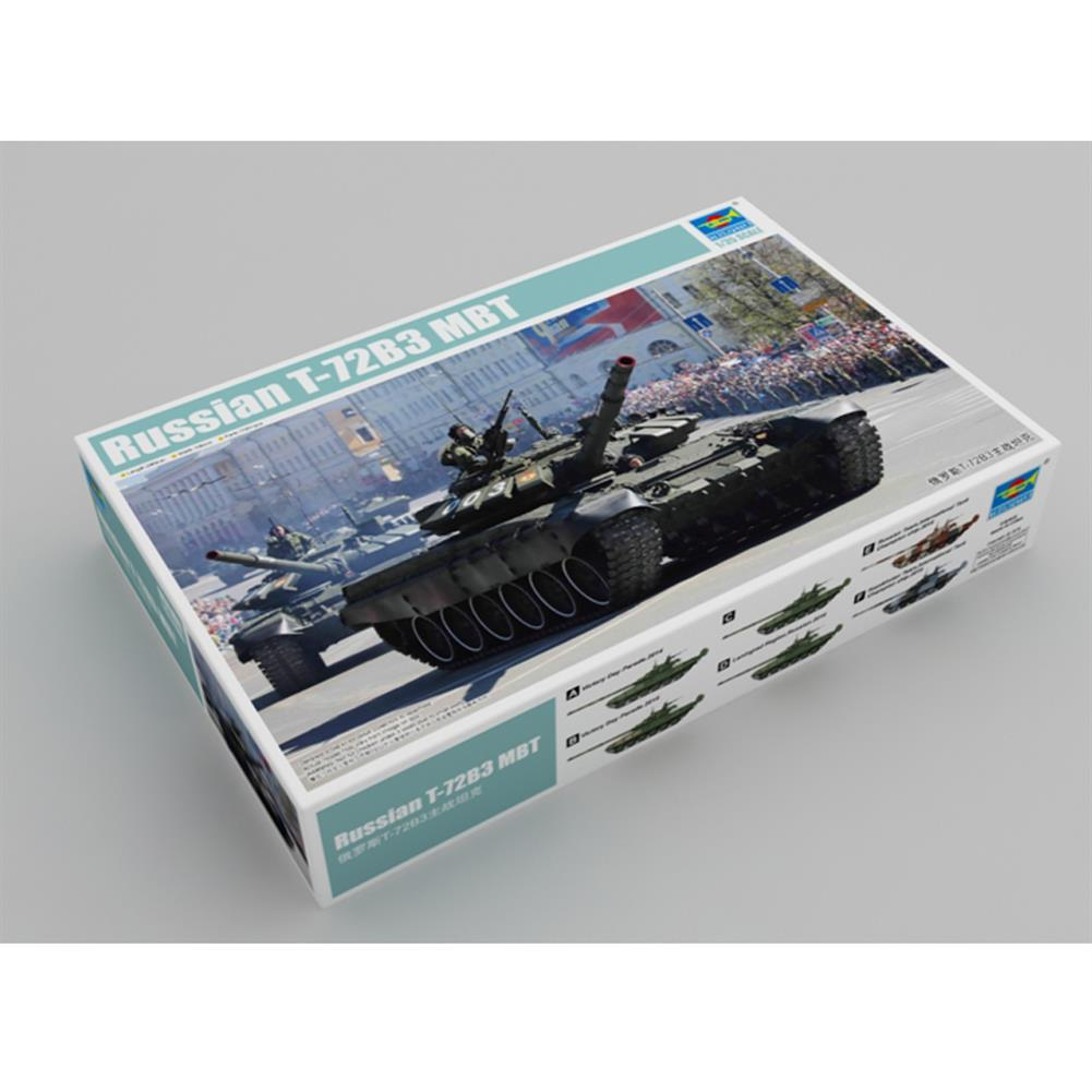 model-building Trumpeter 1:35 Russia T-72B3 DIY Assembled Main Battle Tank Static Model Building Set HOB1609084 1