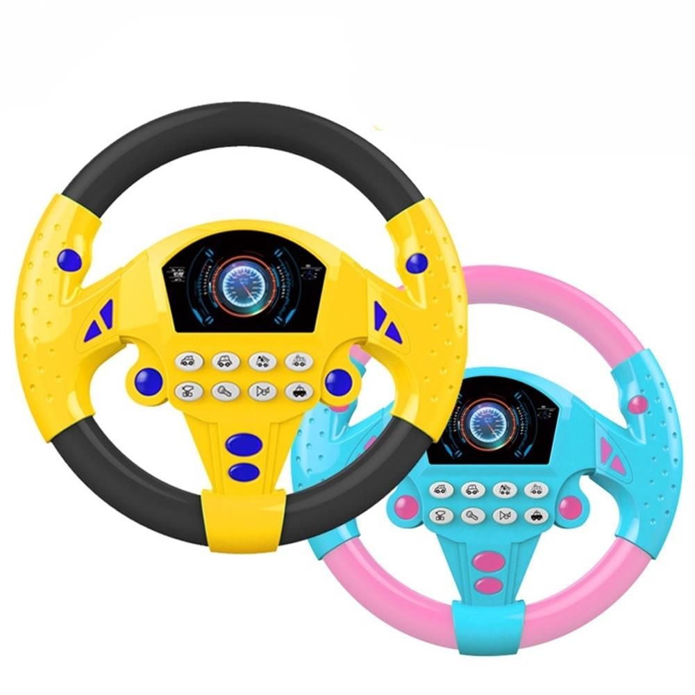 puzzle-game-toys 1 PC Learn and Play Driver Baby Steering Wheel Toddler Musical Toys with Lights Sounds HOB1609086