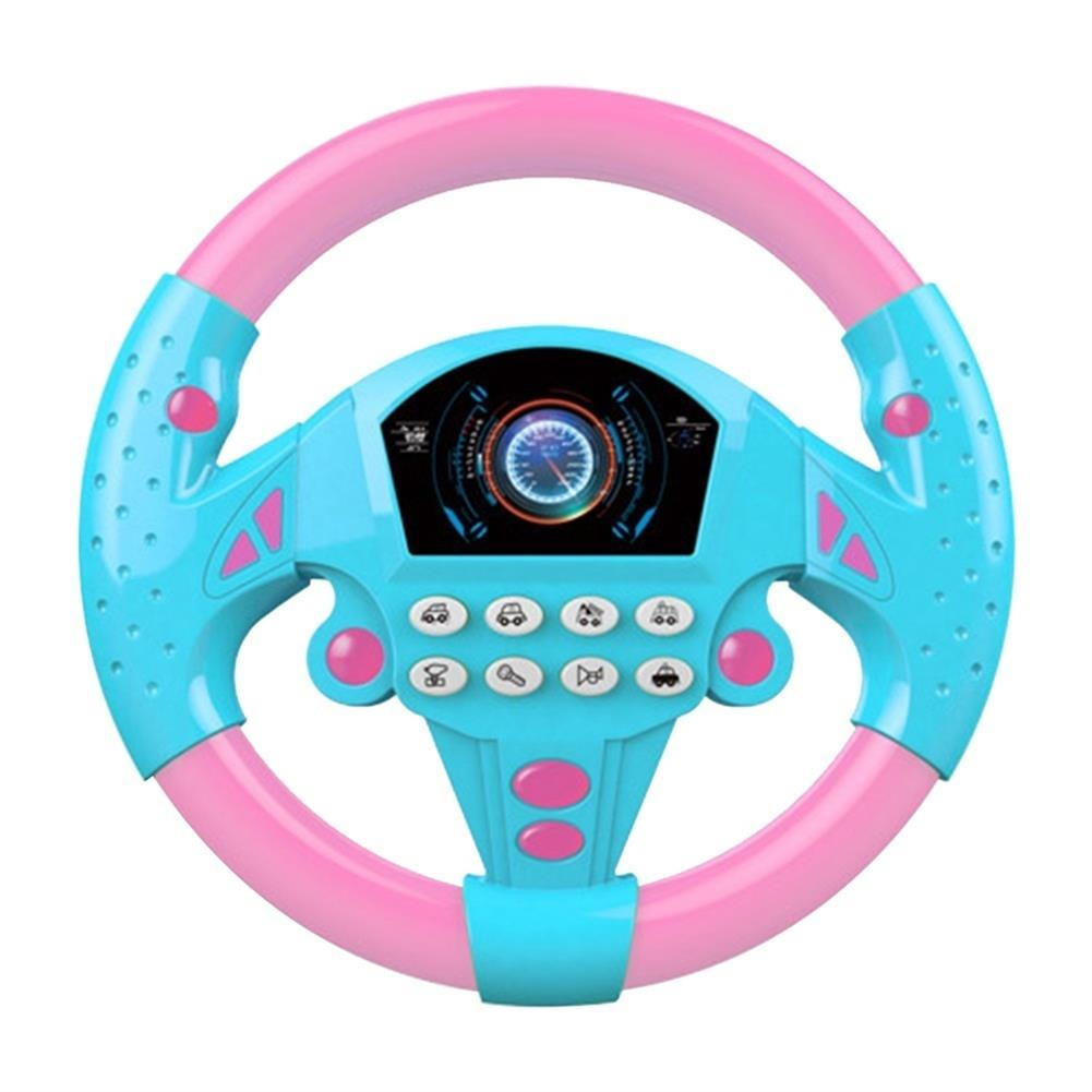 puzzle-game-toys 1 PC Learn and Play Driver Baby Steering Wheel Toddler Musical Toys with Lights Sounds HOB1609086 1