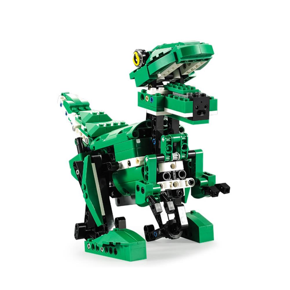 robot-toys CaDA C51035 DIY 2 in 1 Dinosaur Crocodile Smart RC Robot Block Building Gesture Voice interaction Robot Toy HOB1611489