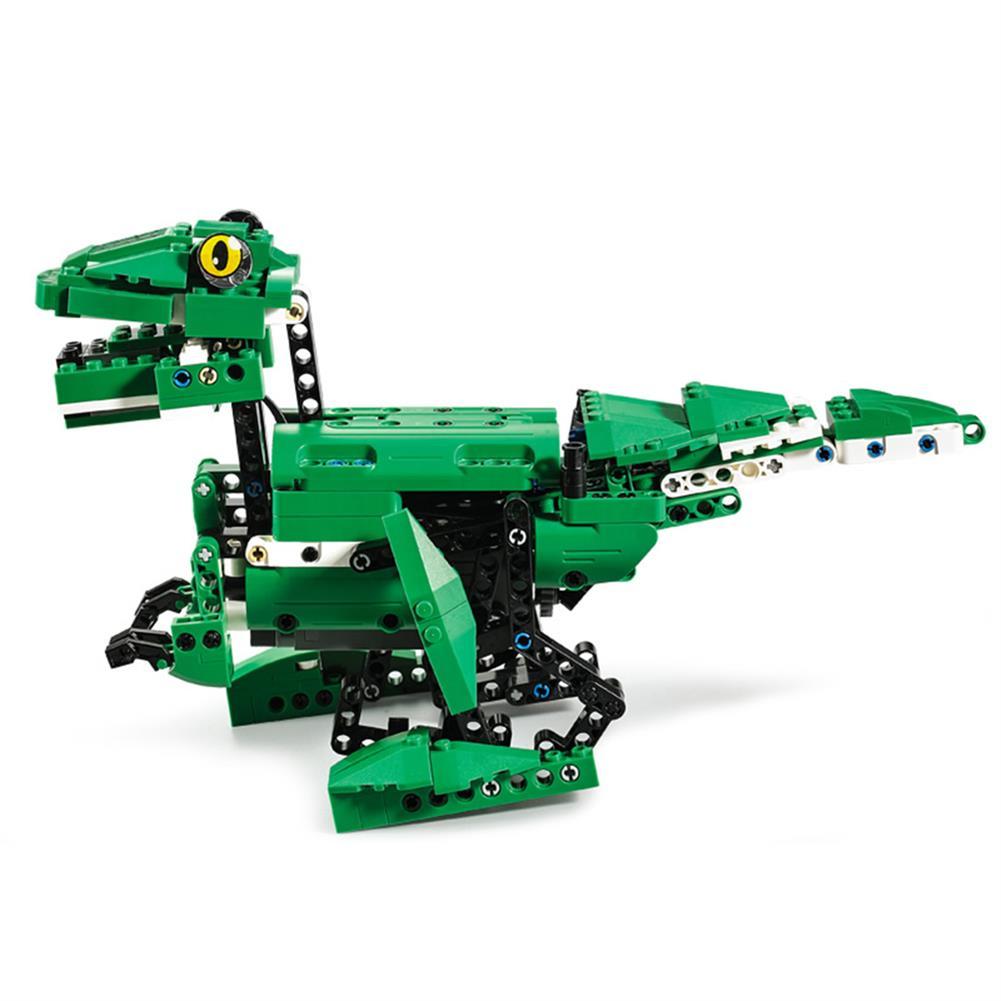 robot-toys CaDA C51035 DIY 2 in 1 Dinosaur Crocodile Smart RC Robot Block Building Gesture Voice interaction Robot Toy HOB1611489 1