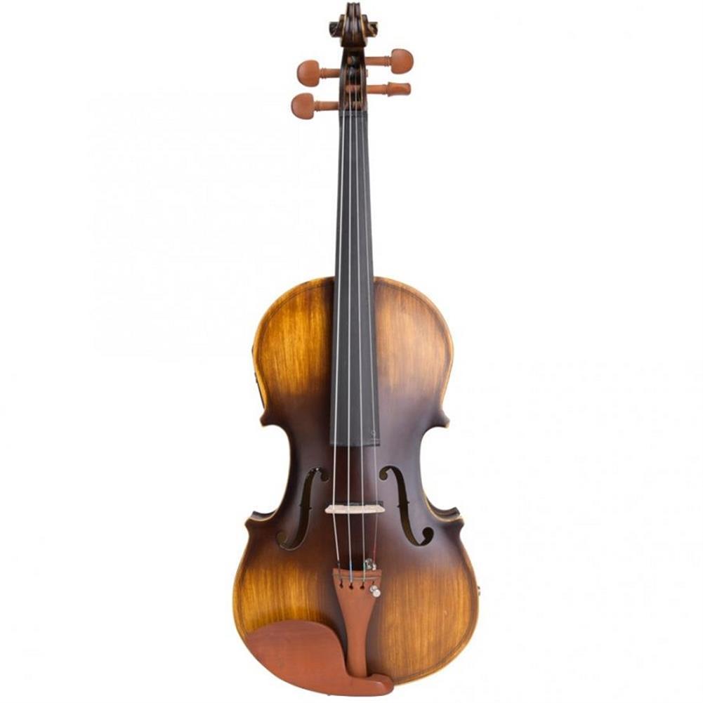 violin Astonvilla AV-E310 Matte Electro-Acoustic EQ Violin with Case Bow Rosin Extra Strings HOB1611913