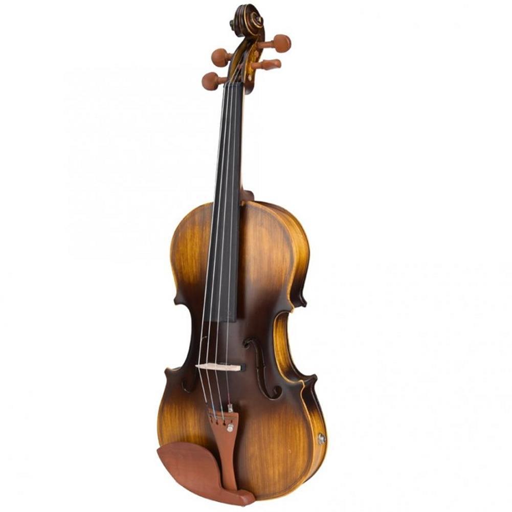 violin Astonvilla AV-E310 Matte Electro-Acoustic EQ Violin with Case Bow Rosin Extra Strings HOB1611913 1