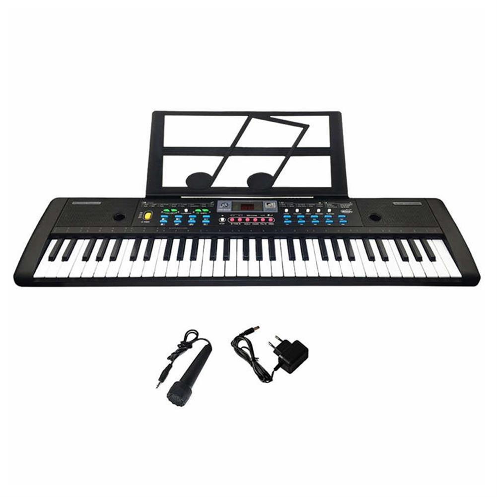 electronic-keyboards 61 Keys Digital Keyboard Electronic Piano Double Horn Stereo Sound with Microphone Music Stand for Children HOB1611923