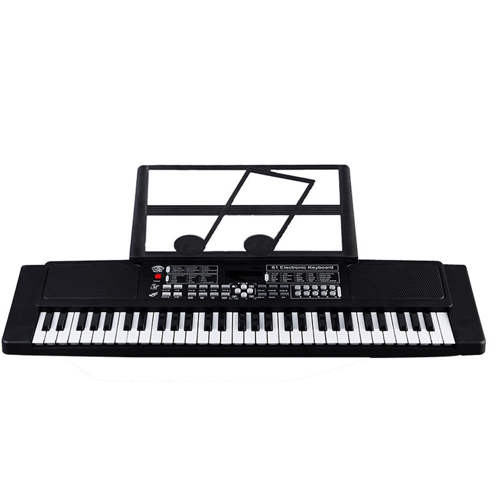 electronic-keyboards 61 Keys Digital Keyboard Electronic Piano Double Horn Stereo Sound with Microphone Music Stand for Children HOB1611923 1