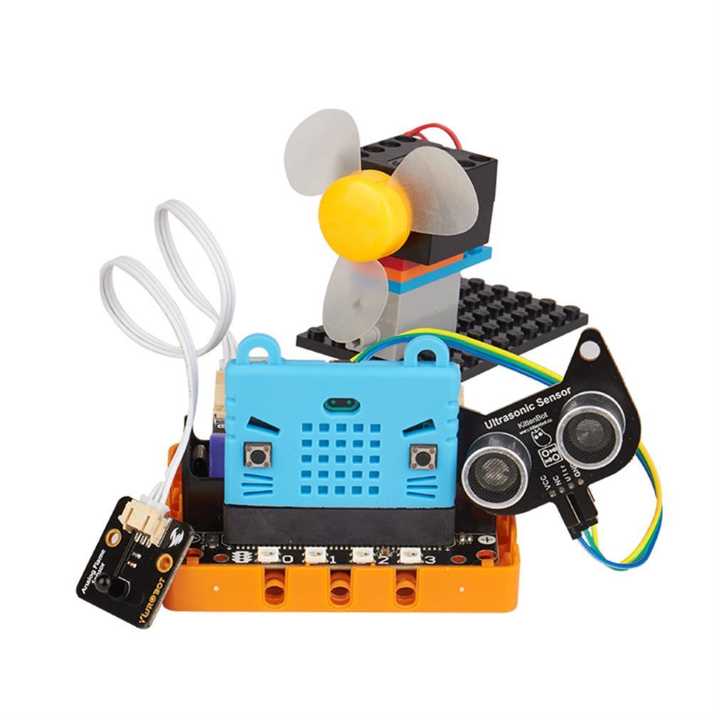 smart-robot Kittenbot Micro:bit Kittenblock Makecode Graphic Program DIY Educational Robot Kit Compatible with LEGO HOB1613357