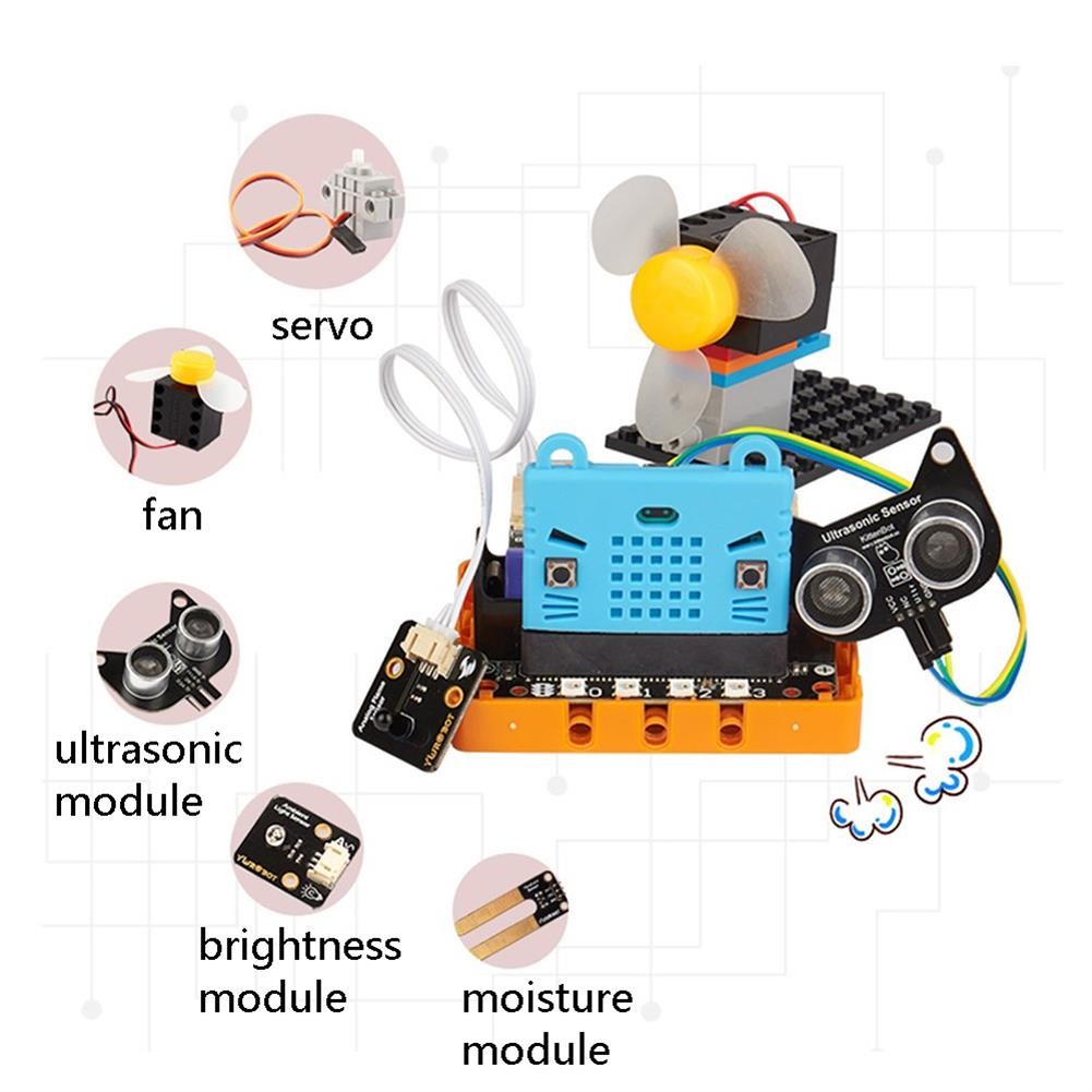 smart-robot Kittenbot Micro:bit Kittenblock Makecode Graphic Program DIY Educational Robot Kit Compatible with LEGO HOB1613357 1