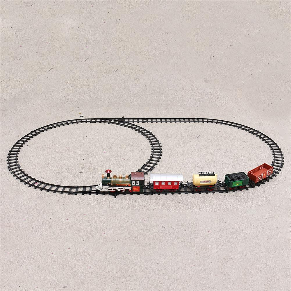 puzzle-game-toys Christmas Electric Rail Train Tracks Set Lights Sound Kids Toys Gift HOB1615562 1