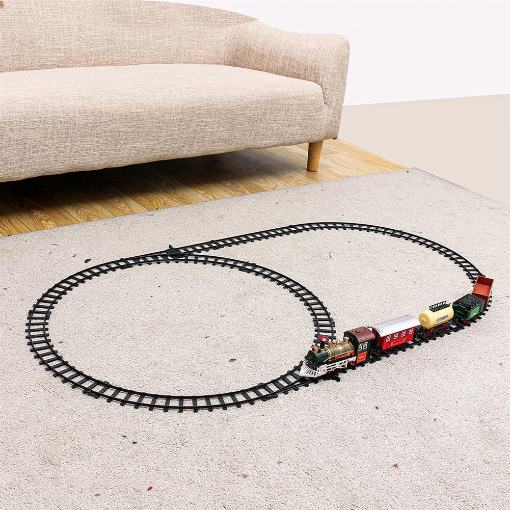 puzzle-game-toys Christmas Electric Rail Train Tracks Set Lights Sound Kids Toys Gift HOB1615562 2
