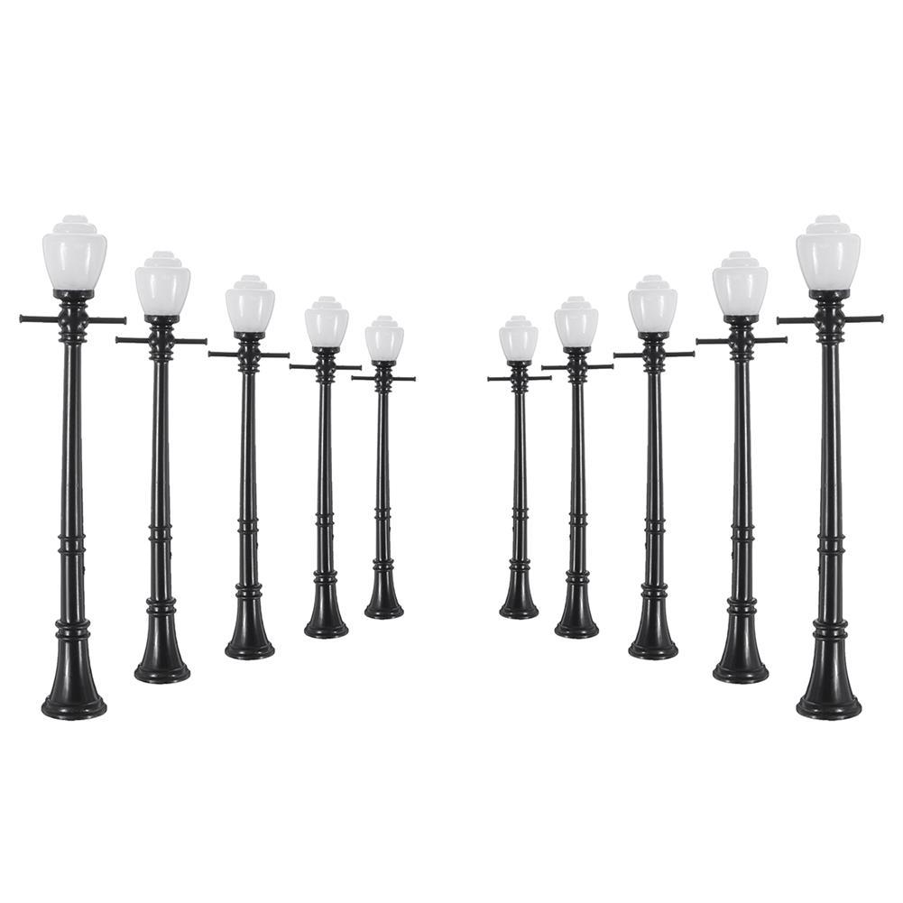 model-building 10Pcs/Set Railway Lamppost Lamps Street Light HO Scale LED Light HOB1616533 1
