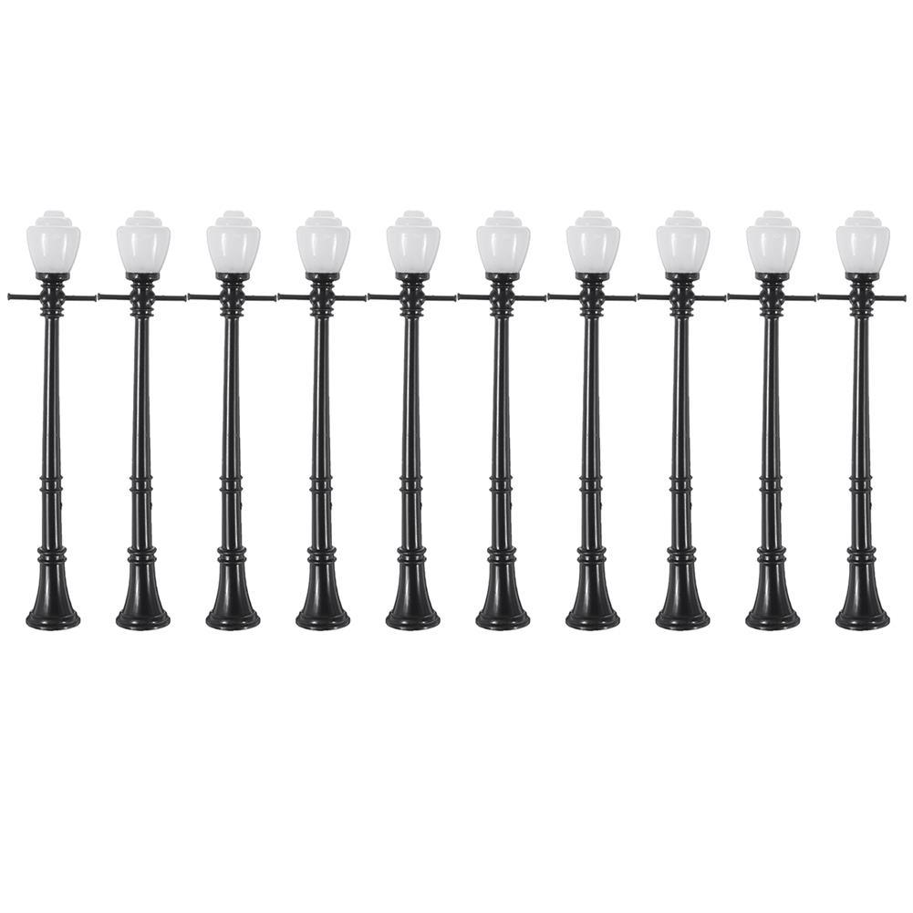 model-building 10Pcs/Set Railway Lamppost Lamps Street Light HO Scale LED Light HOB1616533 2