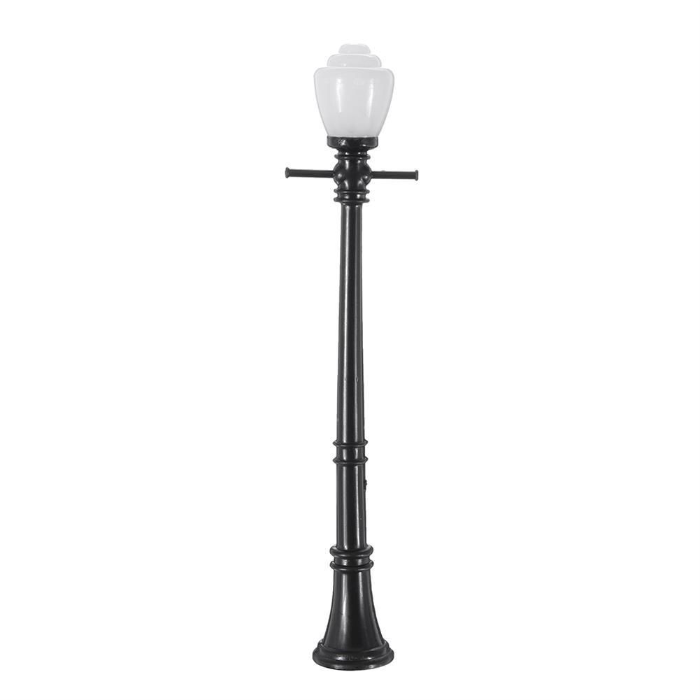 model-building 10Pcs/Set Railway Lamppost Lamps Street Light HO Scale LED Light HOB1616533 3
