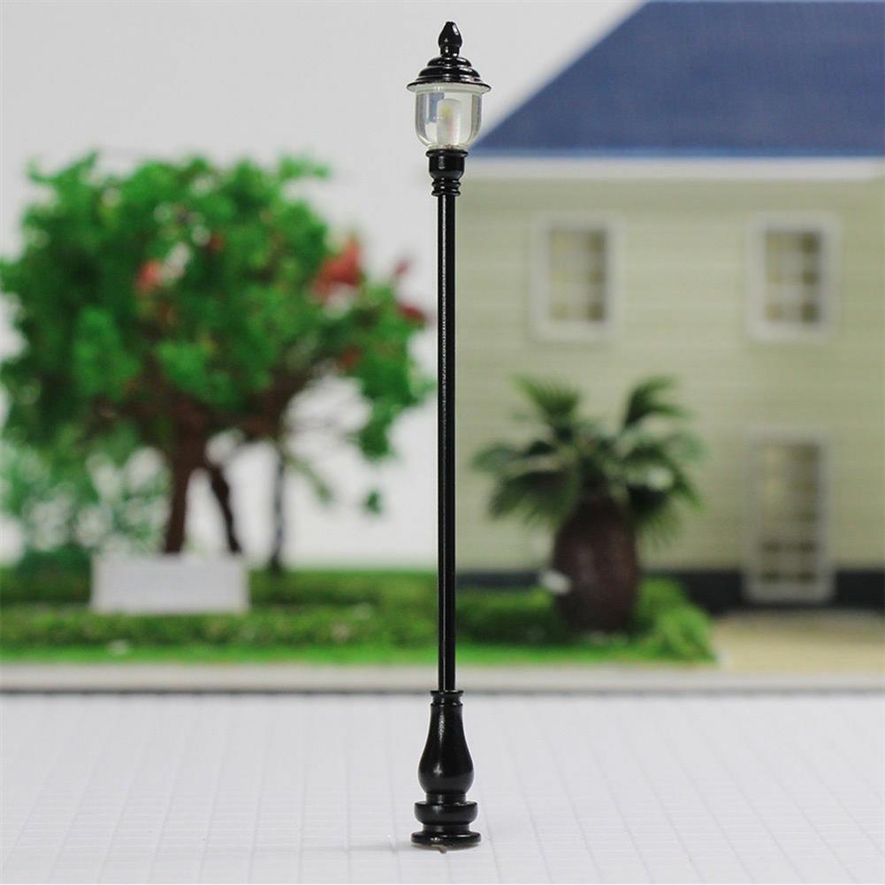 model-building 5Pcs/Set 1:100 HO Scale LED Model Post Street Garden Light Railway Train Lamps HOB1617258 3