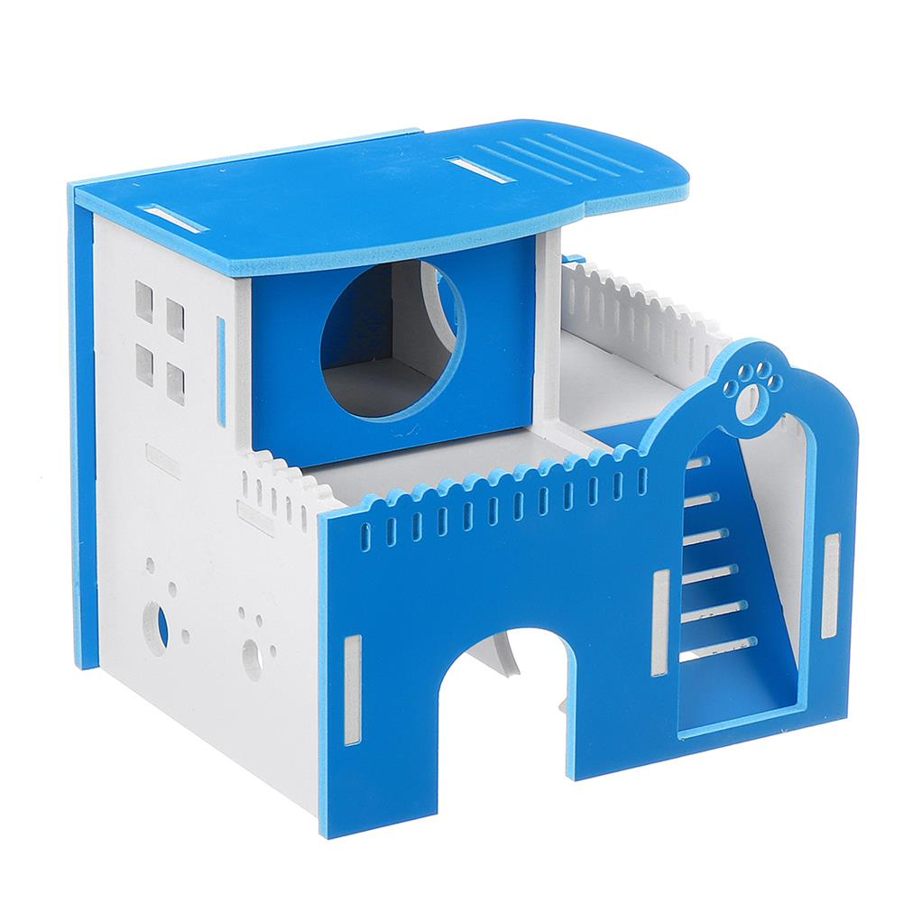puzzle-game-toys Hamster House Dual Layer Ladder Small Animal Pet Mouse Cage Castle Exercise Toys HOB1617311