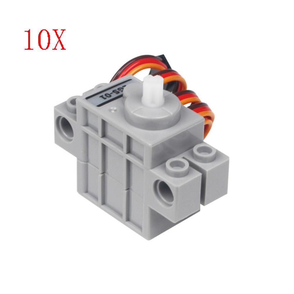 robot-parts-tools 10PCS LOBOT LGS-01 Micro Anti-block Servo 270 Rotation Compatible with LEGO Blocks HOB1619303