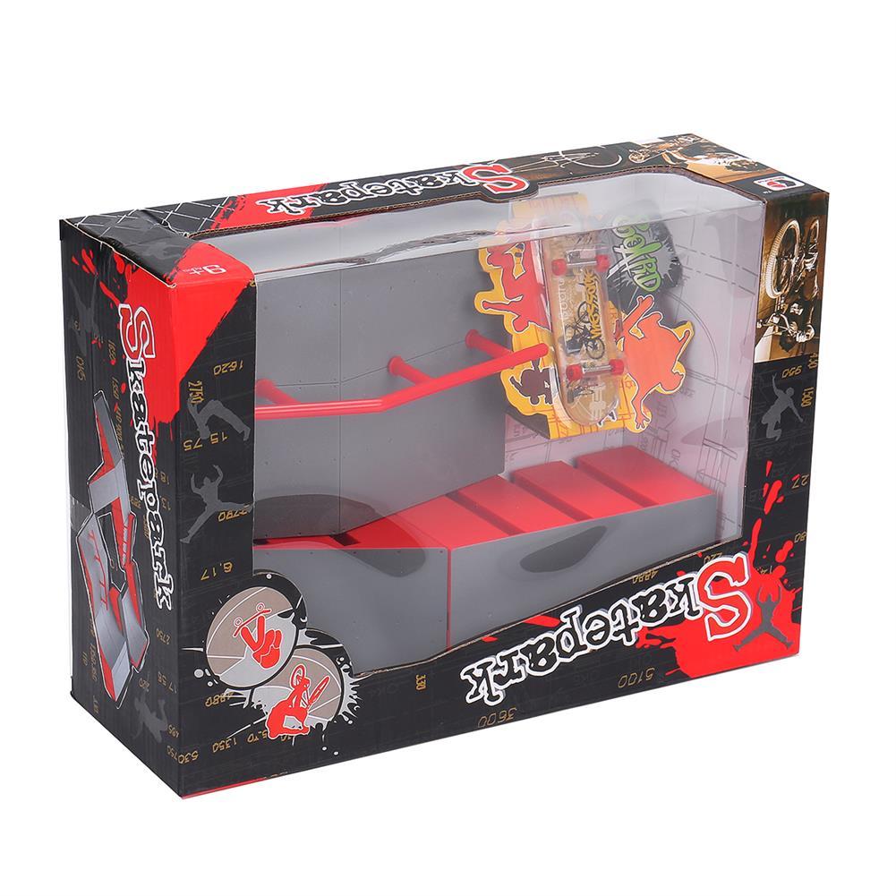 puzzle-game-toys Mini Fingerboard Finger Skateboard & Skate Ramp Skate Park Play Set Kids Toy HOB1619516 2