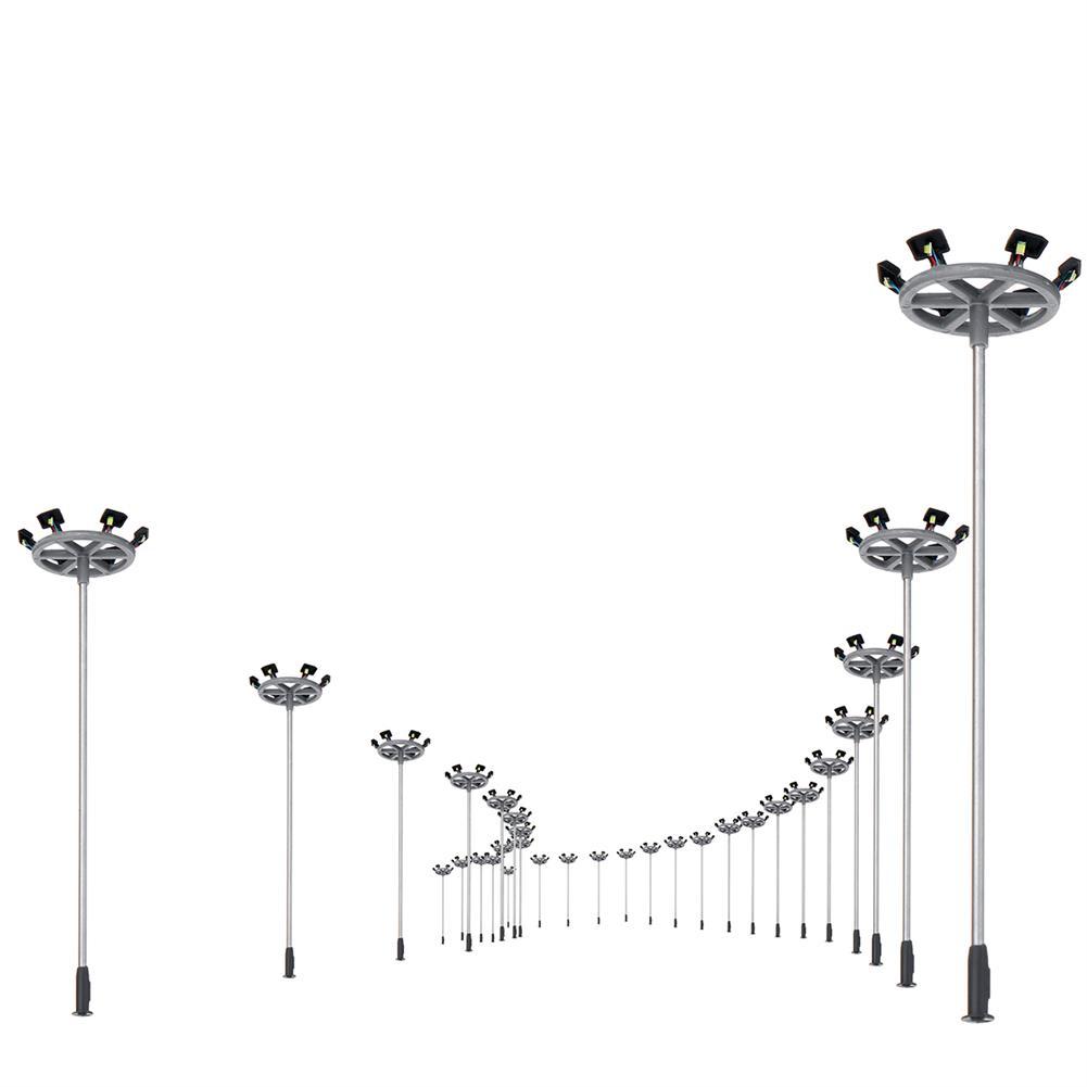 model-building 10Pcs/Set 6 LED Lights 1:100 Scale Streets Lamp 3V Lamppost Model Street Light HOB1619766 1