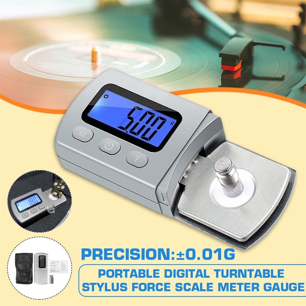 general-accessories 0.01g LP Digital Turntable LP Vinyl Stylus force Scale Gauge Led Dzr Arm Load Meter Vesion for Tonearm Phono Cartridge HOB1619995 1
