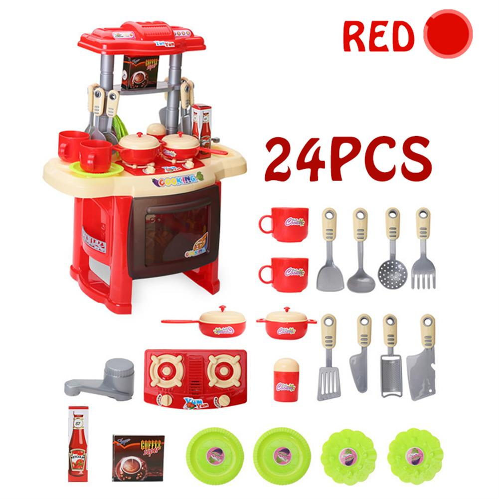 puzzle-game-toys Kid Children Kitchen Pretend Play Cooking Set Toys Toddlers Home Dinner Cookware HOB1620517